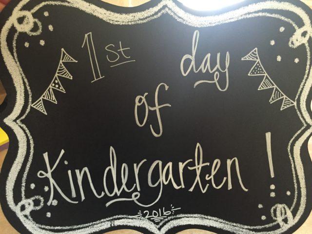 first day of school chalk board sign {www.fireflytales.net}