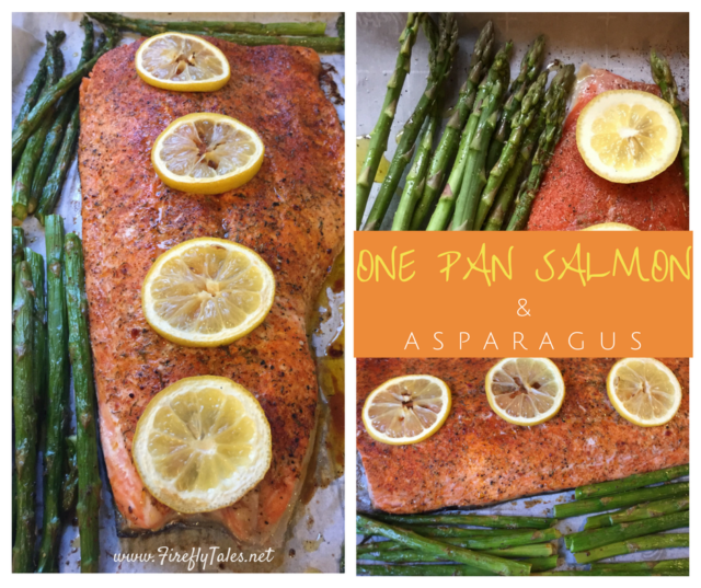One Pan Salmon and Asparagus | www.fireflytales.net