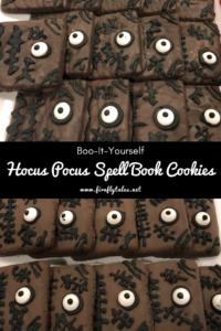 Hocus Pocus Book of Spells Cookies