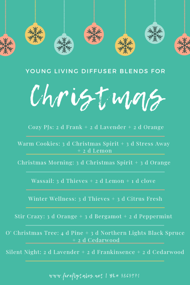 Young Living Diffuser Blends for Christmas | www.fireflytales.net
